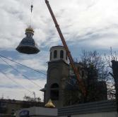 Installation of the dome by the Liebherr LTM 1200 crane