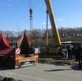 Installation of the turbine by a Krupp 140 GMT-AT (140 t) crane